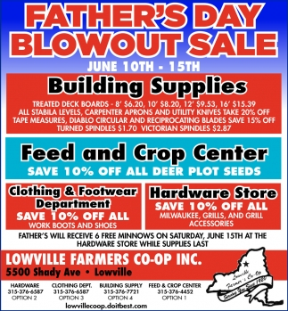 Father's Day Blowout Sale