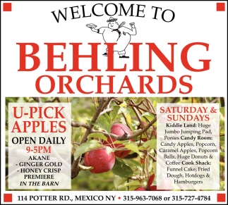 U-Pick Apples Open Daily