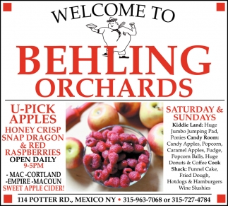 U-Pick Apples Honey Crisp Snap Dragon & Red Raspberries