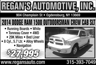 2014 Dodge RAM 1500 Outdoorsman Crew Cab SLT
