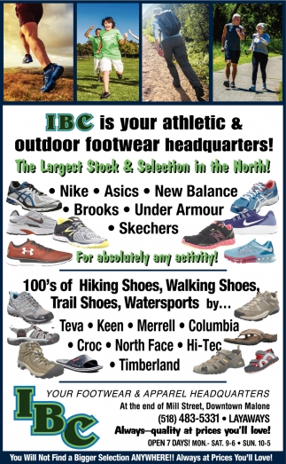 IBC Is Your Athletic And Outdoor Footwear Headquarters!