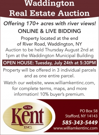 Waddington Real Estate Auction