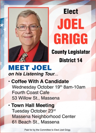 Elect Joel Grigg County Legislator District 14