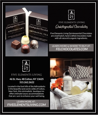 Ads For Five Elements Living In Colton Ny