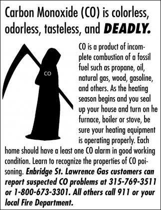 Carbon Monoxide (CO) Is Colorless, Odorless, Tasteless, And Deadly.