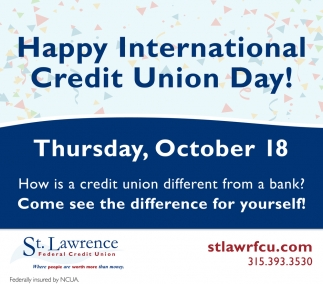 Happy International Credit Union Day!