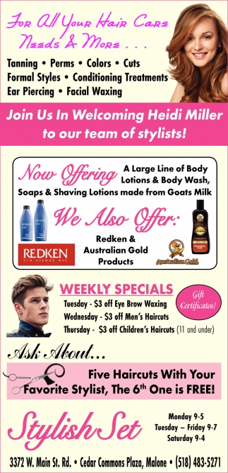 For All Your Hair Care Needs & More...