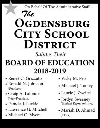 Board Of Education 2018-2019
