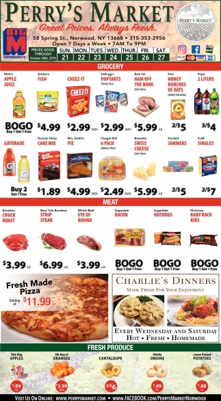 Great Prices. Always Fresh.