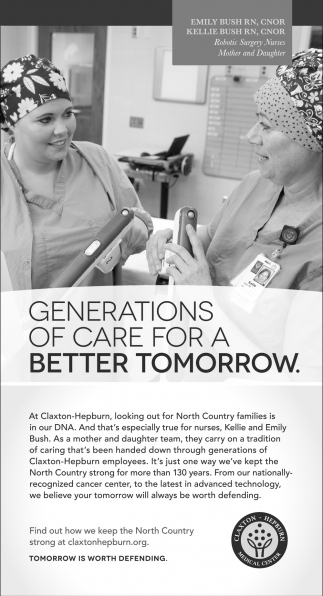 Generations Of Care For A Better Tomorrow.