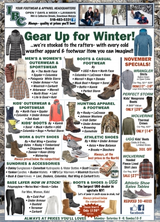 Gear Up For Winter!