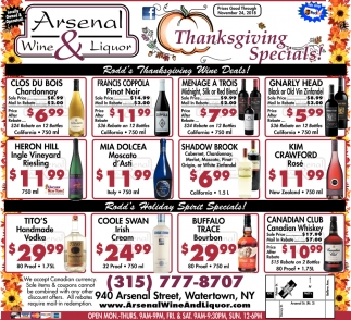 Thanksgiving Specials!