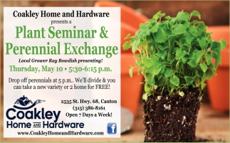 Plant Seminar And Perennial Exchange