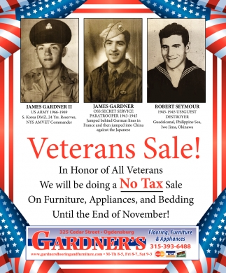 Veterans Sale!