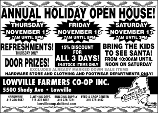 Annual Holiday Open House!