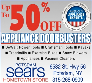Up To 50% Off Appliance Doorbusters