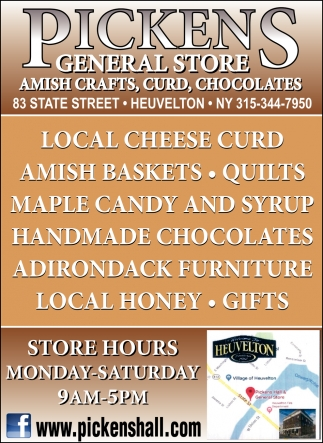 Amish Crafts, Curd, Chocolates