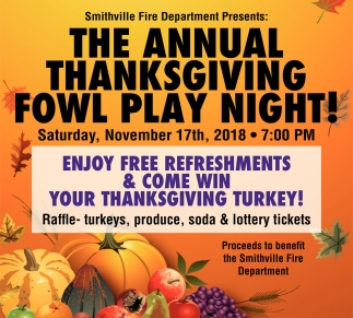 The Annual Thanksgiving Fowl Play Night!
