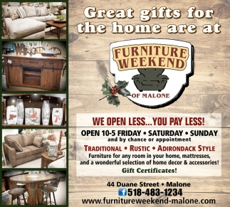 Great Gifts For The Home Are At Furniture Weekend