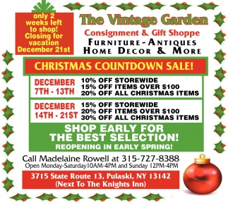 Christmas Countdown Sale!