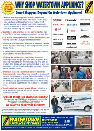 Why Shop Watertown Appliance