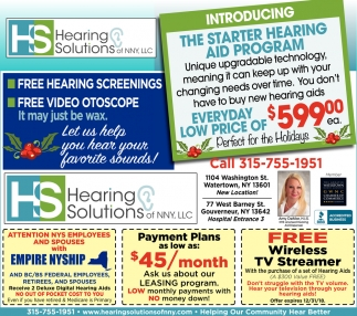 Free Hearing Screenings