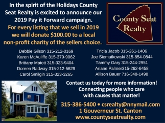 Contact Us Today For More Information County Seat Realty Canton Ny