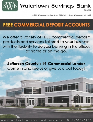 Free Commercial Deposit Accounts