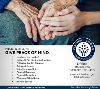 Phillips Lifeline Give Peace Of Mind