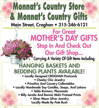 For Great Mother's Day Gifts Stop In And Check Out Our Gift Shop