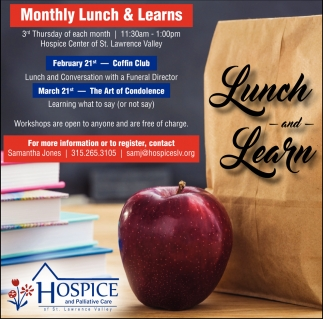 Monthly Lunch & Learns