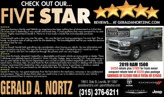 Check Out Our... Five Star
