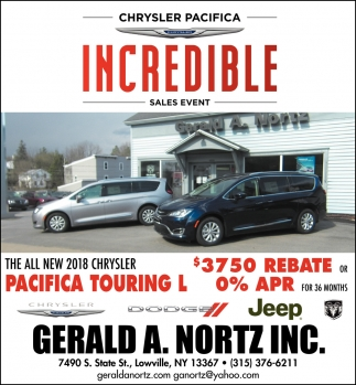 Chrysler Pacifica Incredible Sales Event