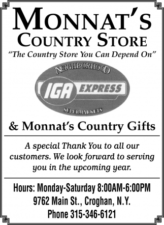 The Country Store You Can Depend On